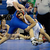 "Centaurus High School's Arturo Chaparro, right, tries for a takedown on Reilly Terranova in the 126-pound weight class during a wrestling meet against Longmont High School on Thursday, Jan. 17, at Centaurus High School in Lafayette. Terranova won the match. For more photos of the meet go to  <a href=""http://www.dailycamera.com"">http://www.dailycamera.com</a><br /> Jeremy Papasso/ Camera"