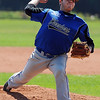 """Alex Blazon of the Centaurus Warriors, pitches against the Longmont Twins in The Boulder NIT tournament.<br /> For more photos of the game, go to  <a href=""""http://www.dailycamera.com"""">http://www.dailycamera.com</a>.<br /> Cliff Grassmick / July 12, 2012"""