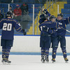 Malden Catholic players celebrate a goal during their game against Central Catholic. Photo by Mary Schwalm