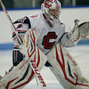 Central Catholic goalie Colin Soucy maintains his focus during a face off. Photo by Mary Schwalm