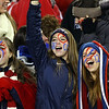 Central Catholic fans cheer on their team. DAVID LE/Staff Photo 12/7/13