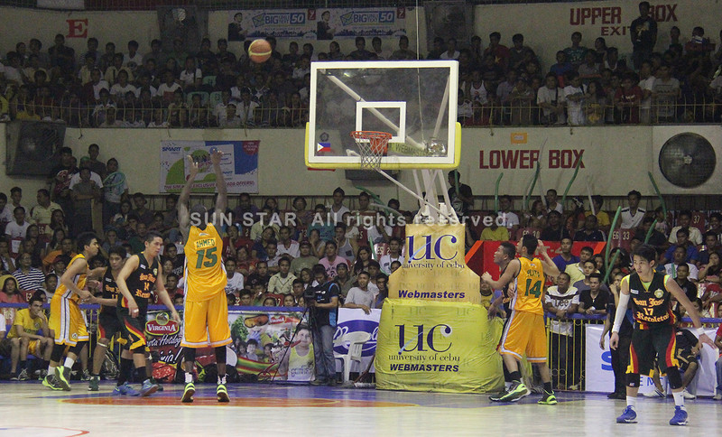 Salihou Ahmed attempts a free throw. (Jonathan Vincent Tan/Sunnex)