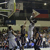 Mike Harry Nzeussue of UV Lancers shoots a post jumper. (Jonathan Vincent Tan/Sunnex)