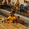 Christian parker goes for the loose ball