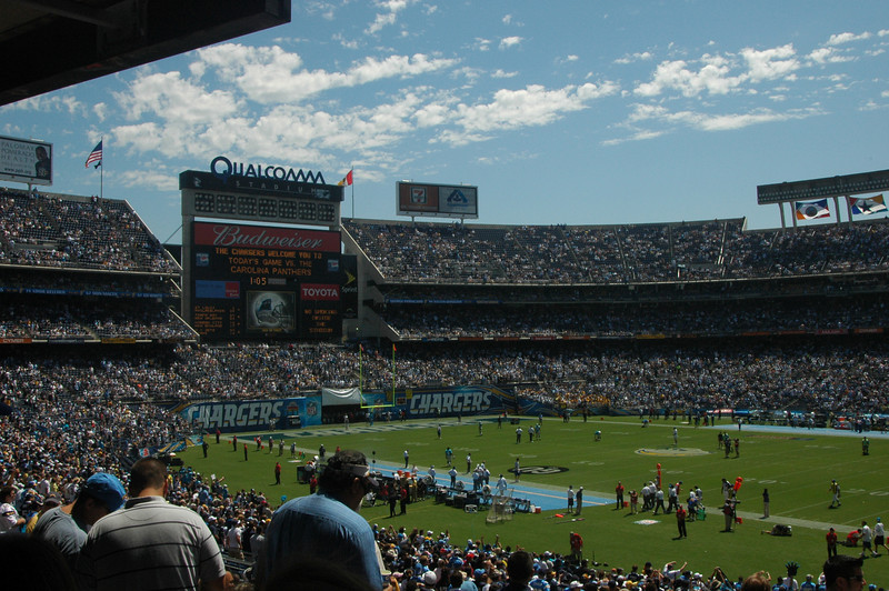 Opening Day - San Diego Ca, Qualcomm Stadium<br /> Chargers Vs the Panthers