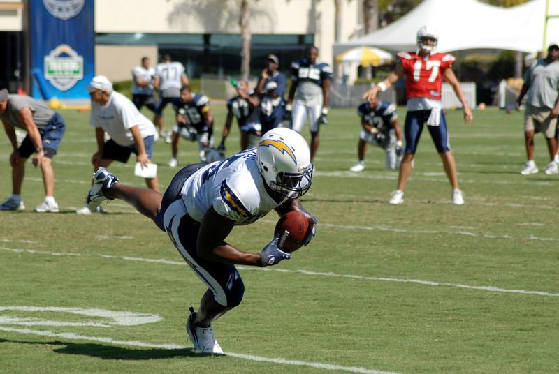 Antonio makes the catch.
