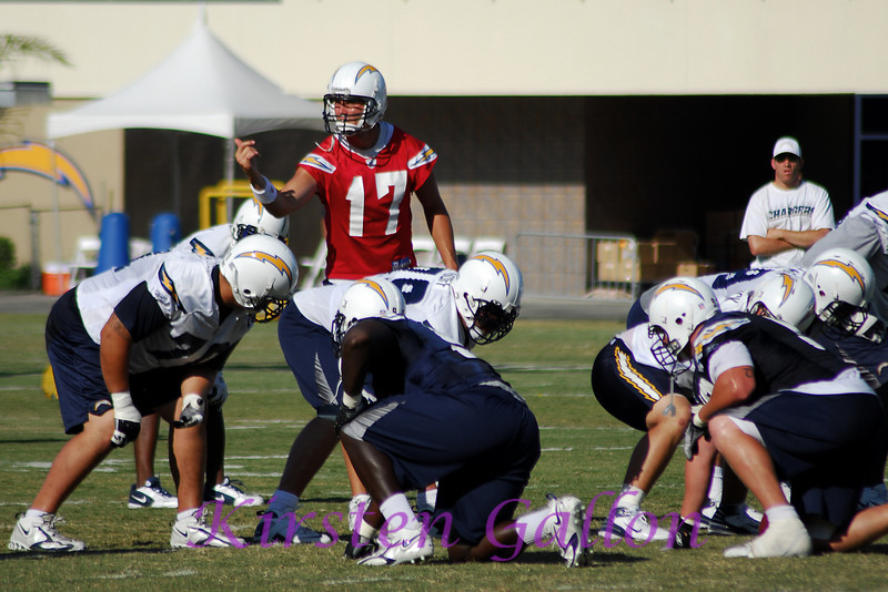 Philip Rivers getting his offense set up.