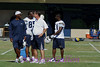 Offensive coordinator Clarence Shelmon, Head Coach Norv Turner, Antonio Gates and LaDanian Tomlinson.