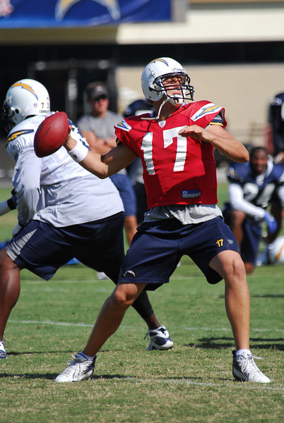 Rivers gets ready to launch the pass.