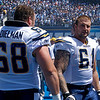 Dielman #68 and Nick Harwick #61 - San Diego Chargers 2007 NFL Game