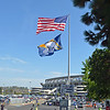 Flagpole at Entry to Chargers Stadium