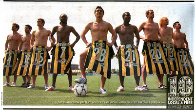 2007 photo shot for the local Charleston City paper.  Shows the backside of the 2007 Charleston Battery Jersey. Jersey by Umbro, sponsor by Saturn
