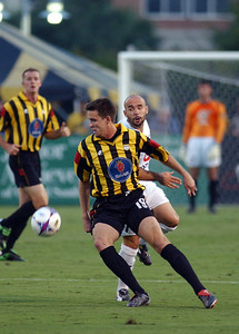 2003 Charleston Battery home Jersey,  Jersey sponsor Saab.  Eventual A-league Champion
