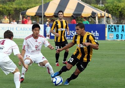 2011 Charleston Battery home jersey.  Jersey by Umbro, sponsor by AvVenta.  First year for three stars over Battery crest.