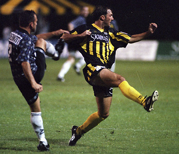 1997 Charleston Battery home Jersey.  Shirt Sponsor Skatells