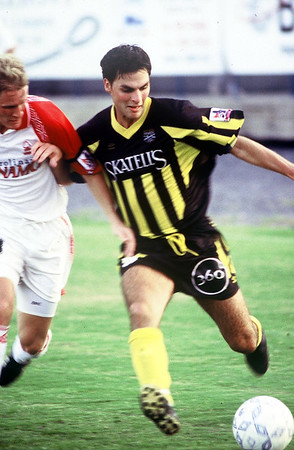 1998 Charleston Battery home Jersey.  Jersey sponsor Skatell's