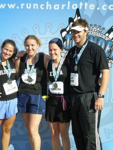 Post Race- JS, Beth, Christina, Kevin