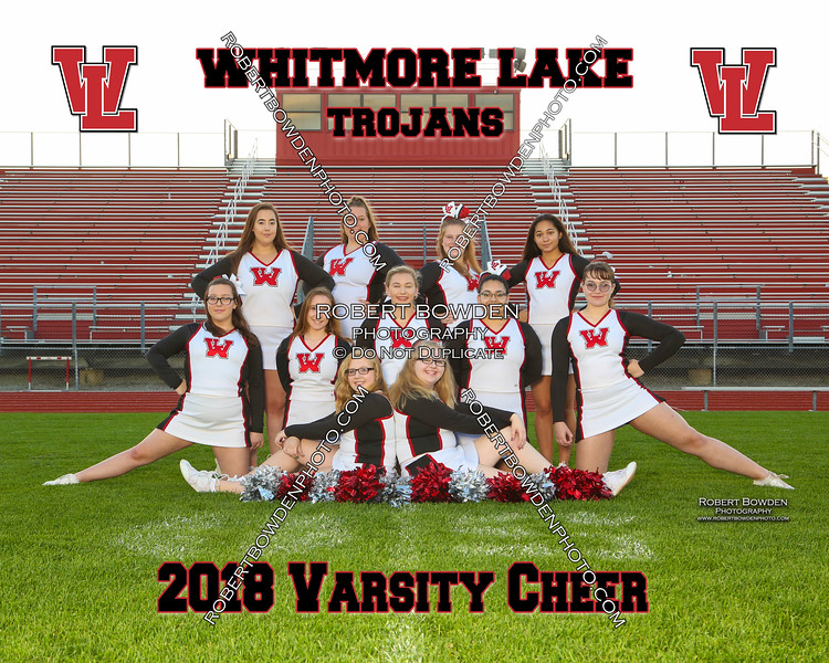 2018 Whitmore Lake Cheer 8x10