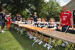 DAVIDSON, NC - Davidson College athletes participate in Davidson Wildcat Day at the Town Green in Davidson, NC.