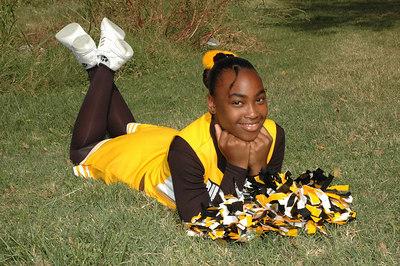 Wichita 7th grade Bulldogs Cheerleaders.  Wichita Kansas  Sept  2006.   Jojo
