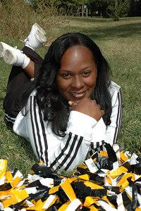 Wichita 7th grade Bulldogs Cheerleaders.  Wichita Kansas  Sept  2006.    Monty