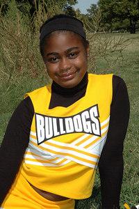 Wichita 7th grade Bulldogs Cheerleaders.  Wichita Kansas  Sept  2006.  Tucker