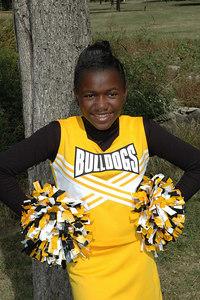 Wichita 7th grade Bulldogs Cheerleaders.  Wichita Kansas  Sept  2006.   Adkins