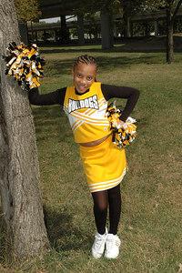 Wichita 7th grade Bulldogs Cheerleaders.  Wichita Kansas  Sept  2006.  Ross
