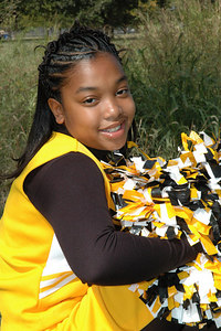 Wichita 7th grade Bulldogs Cheerleaders.  Wichita Kansas  Sept  2006.  Price
