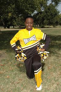 Wichita 7th grade Bulldogs Cheerleaders.  Wichita Kansas  Sept  2006.    Ashlee
