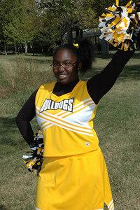 Wichita 7th grade Bulldogs Cheerleaders.  Wichita Kansas  Sept  2006.  Jenkins