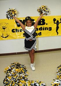 2006 Bulldog Cheerleaders. 2nd & 5th Grade. Wichita, Kansas. Day