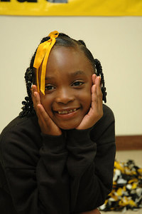 2006 Bulldog Cheerleaders. 2nd & 5th Grade. Wichita, Kansas.  Banks