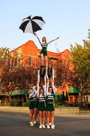 Cheerleaders Hit Downtown '12