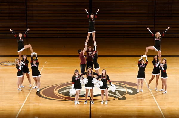 Winter 2011 Cheer Team (Photo by Daniel Binkard/Chadron State College)