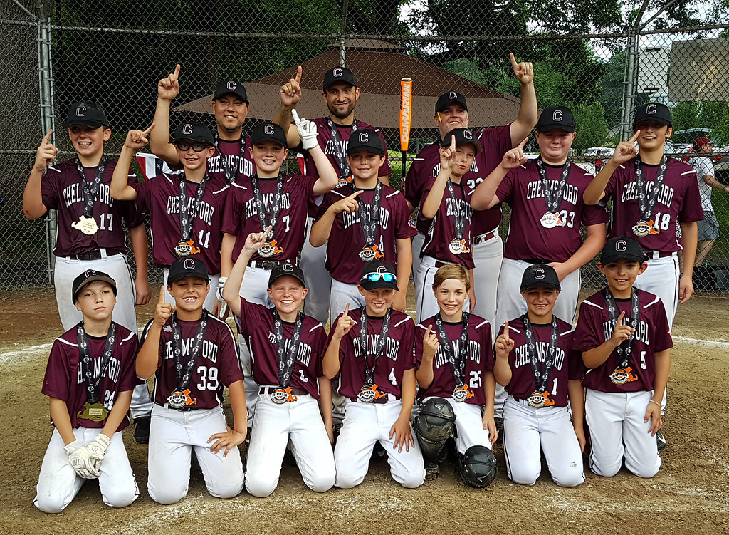 . Chelmsford team that won over Burlington in EMass 11-year-old Cal Ripken State Tournament and will go on to New England Regional in Maine. (SUN/Julia Malakie)