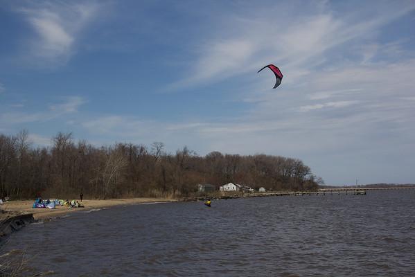 Chesapeake Kite Surfing - April 2013