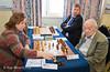 Round 10 - Judit Polgar (HUN) vs Viktor Korchnoi (SUI).  Alexei Shirov (LAT) in the background.