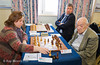 Round 10 - Judit Polgar (HUN) vs Viktor Korchnoi (SUI).  Alexei Shirov (LAT) in the background.