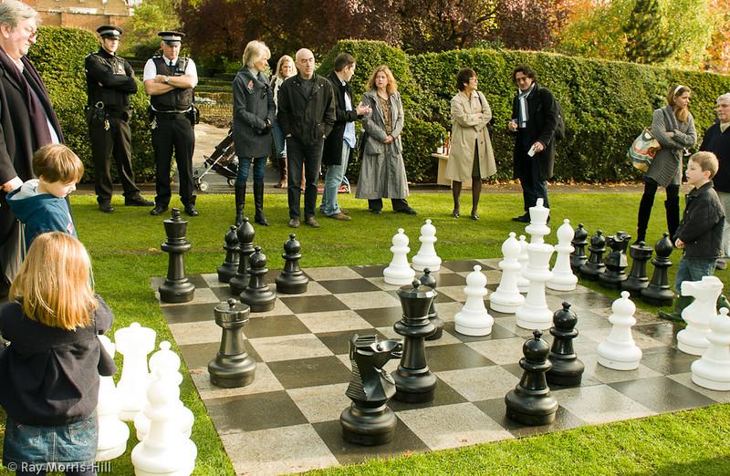 Grandmaster Raymond Keene (left) takes on allcomers.
