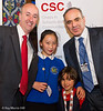 8780 - Geraint Davies MP and Garry Kasparov with children from Gors Community Primary School