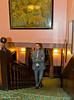Veselin Topalov climbs the staircase at Simpson's