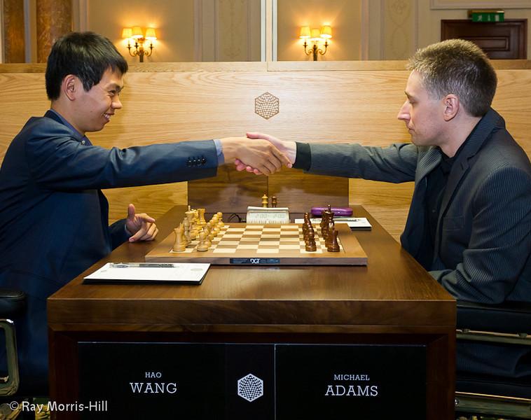 Round 1: Wang Hao vs Michael Adams