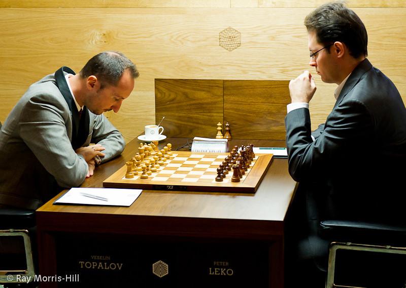 Round 5: Veselin Topalov vs Peter Leko