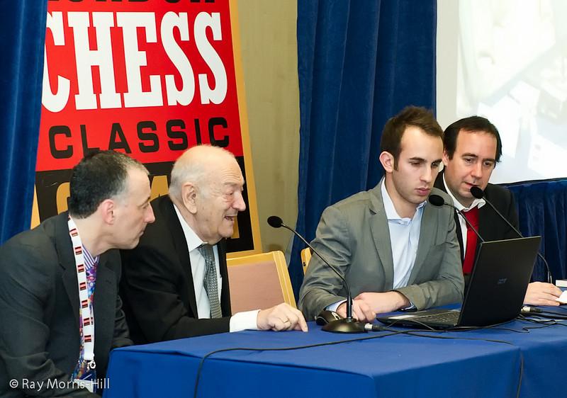 Viktor Korchnoi in the commentary room