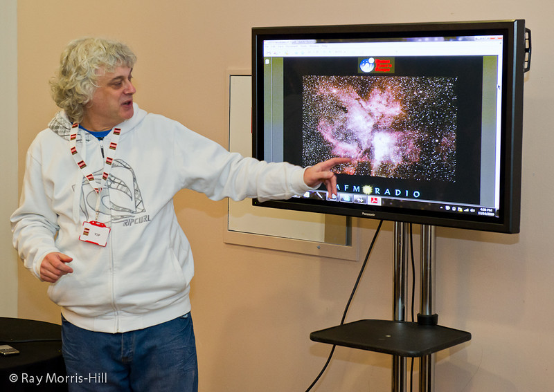 John Nunn gives an astronomy presentation