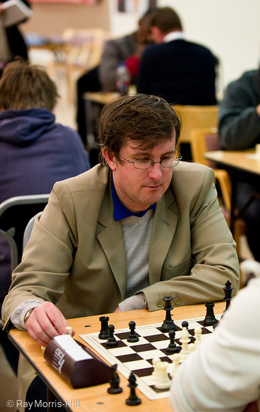 Matthew Turner in the Saturday evening blitz tournament
