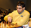 Viswanathan Anand in action against Michael Adams in Round 1
