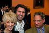 Joanna Trollope, Jason Kouchak and Dominic Lawson at the evening reception