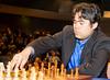 Hikaru Nakamura in action against Vladimir Kramnik in Round 1